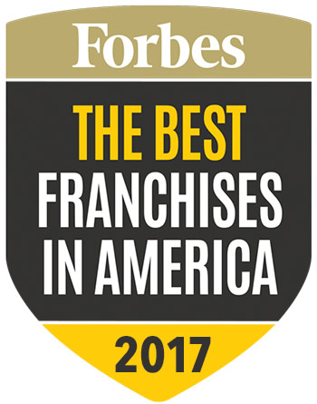 Featured in Forbes, The Best Franchises in America 2017