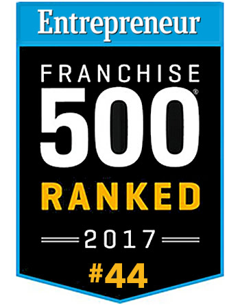 Entrepreneur Franchise 500 Ranked #44 in 2017.